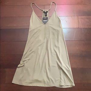 Forever 21 green sleeveless slip dress. Very cute